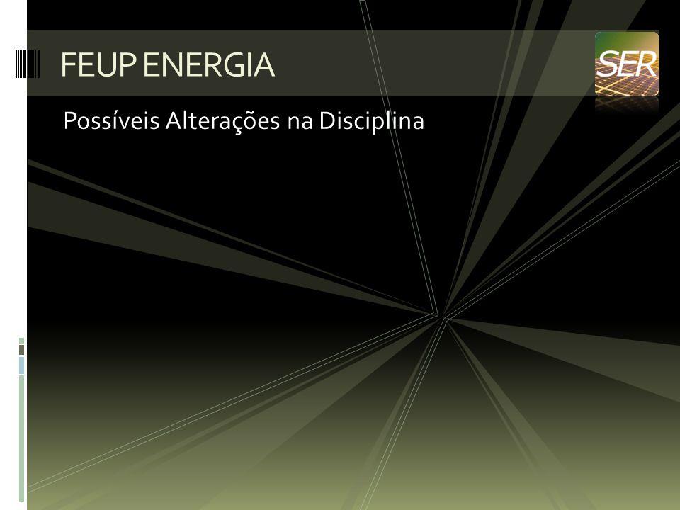 Possíveis Alterações na Disciplina FEUP ENERGIA