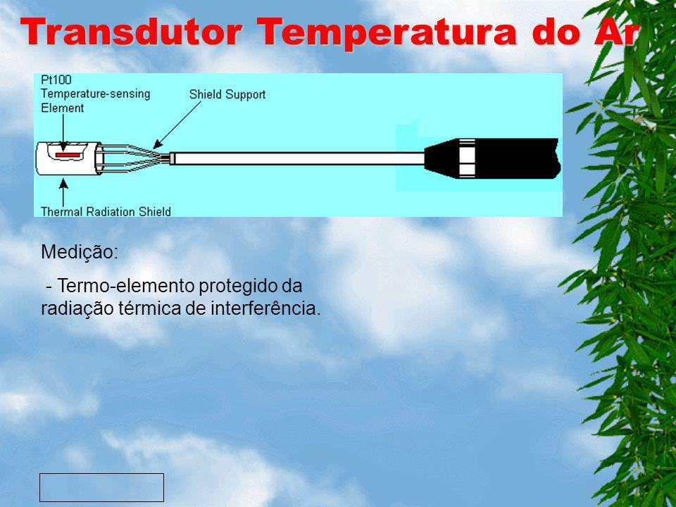 Transdutor Humidade Medição: - Elemento arrefecido é activado e a temp. do espelho baixa; - Existindo uma película de condensação no espelho é medido