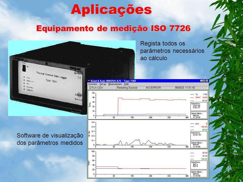 Transdutor Temperatura Radiante Medição: - Duas faces (A e B) idênticas que medem, de modo independente, a radiação incidente de cada superfície - Cad