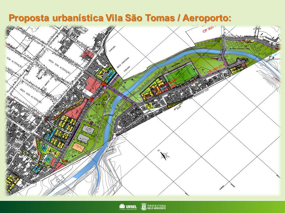 Proposta urbanística Vila São Tomas / Aeroporto: