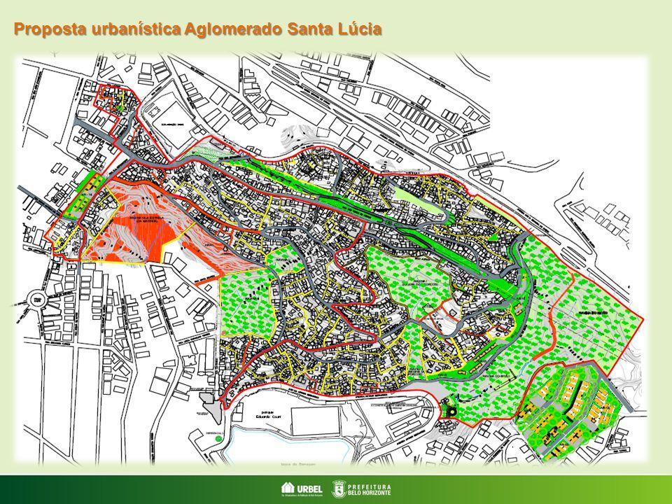 Proposta urbanística Aglomerado Santa Lúcia