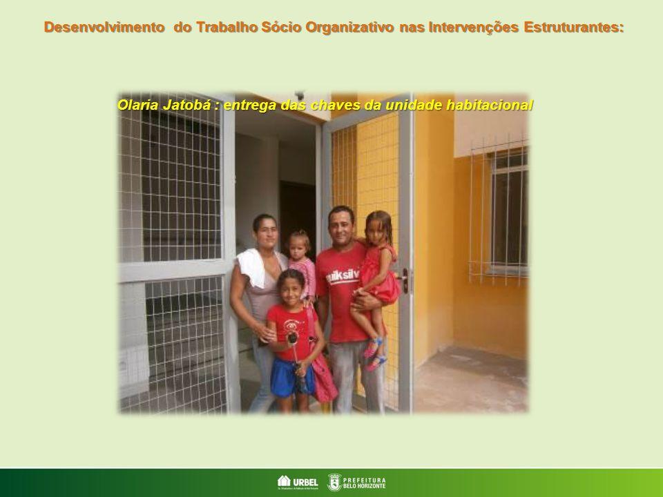 Olaria Jatobá : entrega das chaves da unidade habitacional Desenvolvimento do Trabalho Sócio Organizativo nas Intervenções Estruturantes: