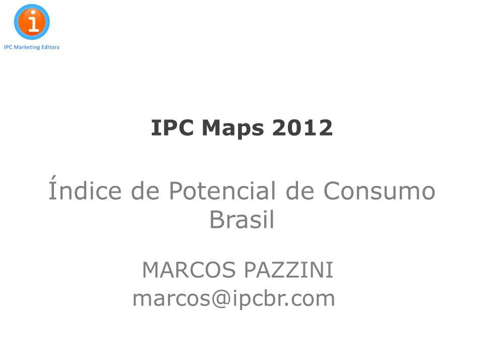 2 BASE DE ANÁLISE: ESTUDO IPC Maps: 1995-2012 Banco de dados exclusivo, com informações atualizadas para cada um dos 5.565 municípios, Detalhamento por bairros / distritos das principais Capitais e municípios brasileiros Geoprocessamento: possibilidade de representação espacial das variáveis constantes no estudo, em mapas temáticos Dados demográficos atualizados para 2012 Classificação economica dos domicílios urbanos (Critério Brasil) Consumo per capita urbano e rural Potencial de consumo da população urbana – 22 categorias IPC Maps, expressando a participação de cada município no total do consumo brasileiro IPC 2012