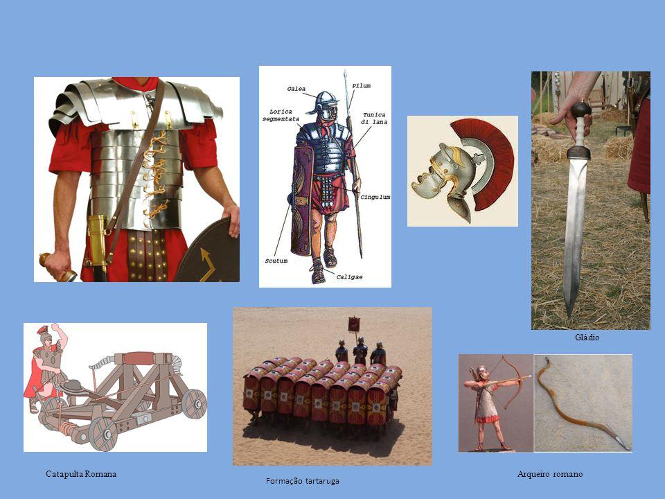 Catapulta Romana Formação tartaruga Gládio Arqueiro romano