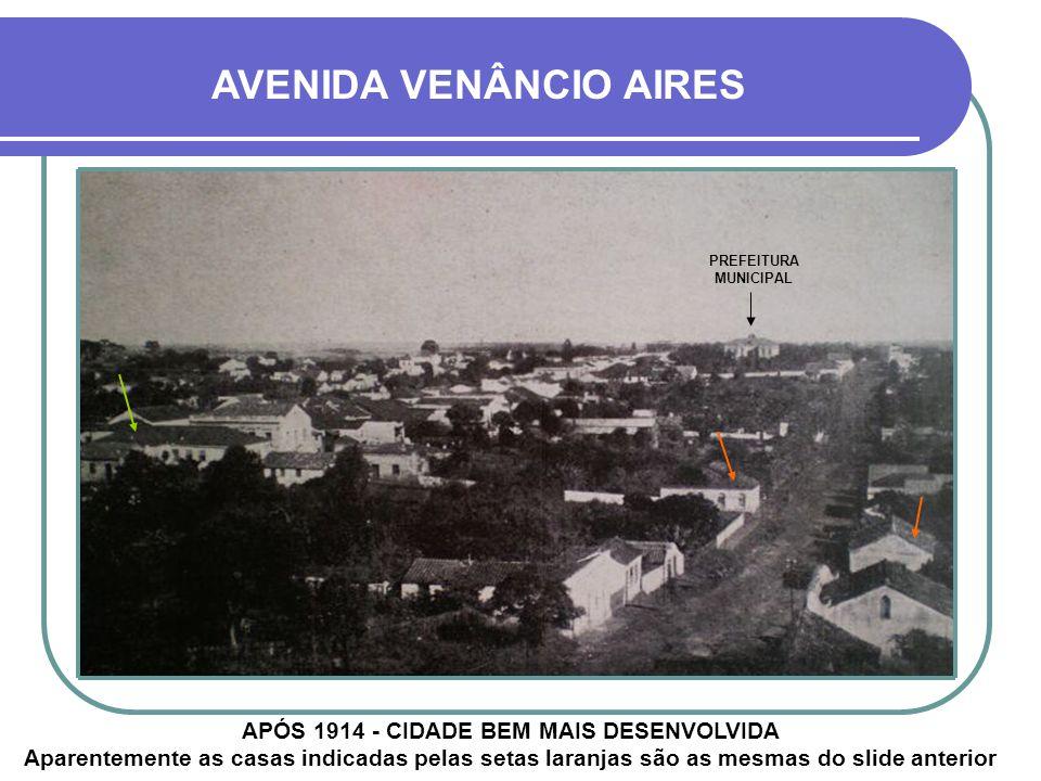 AVENIDA VENÂNCIO AIRES FINAL DO SÉCULO 19 - NA ÉPOCA CHAMADA DE RUA DA IGREJA Na seta situava-se o olho d´água que dava origem ao Riacho da Panelinha