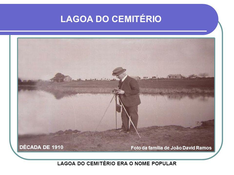 LAGOA DO CEMITÉRIO DÉCADA DE 1910 Foto da família de João Davi Ramos ORIGINALMENTE DENOMINADA LAGOA DO MONTEIRO, FINALMENTE CHAMOU-SE LAGOA BENTO GONÇ