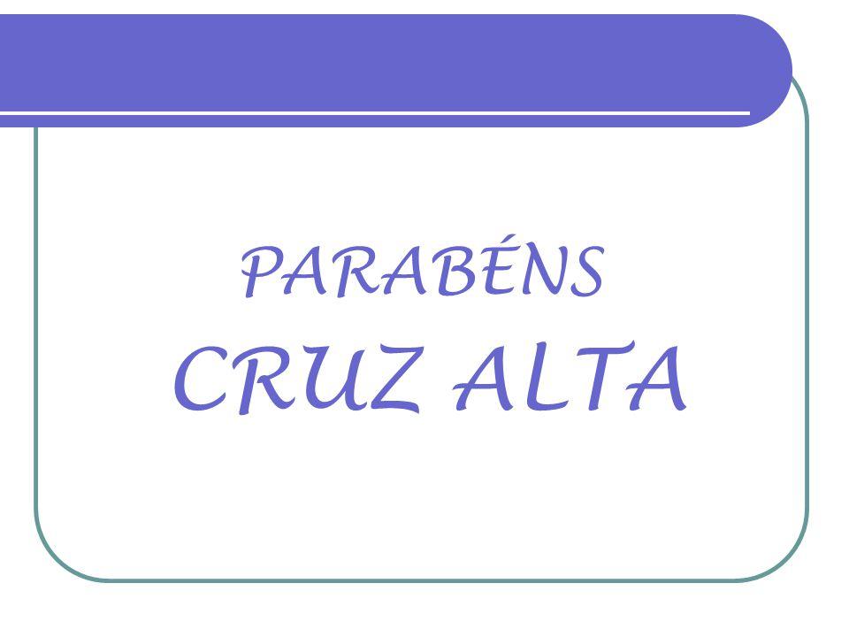 18/08/2011 CRUZ ALTA-RS 190 ANOS Fotos atuais e edição: Alfredo Roeber Homenagem especial: Dr. José Westphalen Corrêa (in memorian) Música: TERRA SAUD