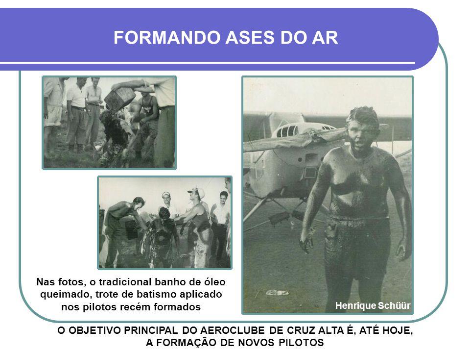 À ESQUERDA, O PRIMEIRO AVIÃO DO AEROCLUBE DE CRUZ ALTA, O BI-PLANO AMERICANO VIRAMUNDO AEROCLUBE DE CRUZ ALTA Henrique Schüür