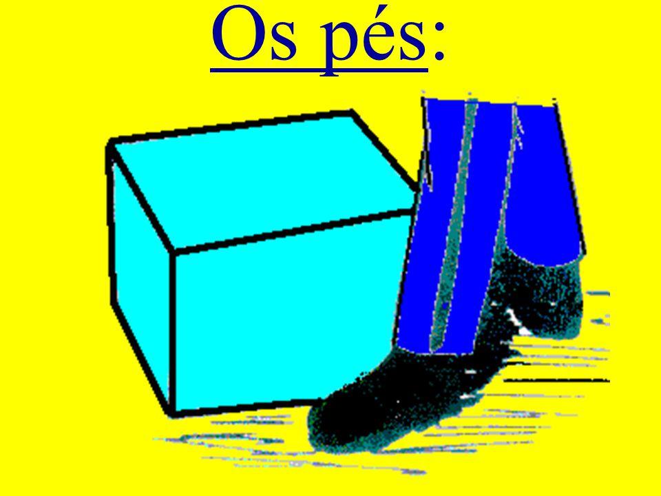 Os pés:
