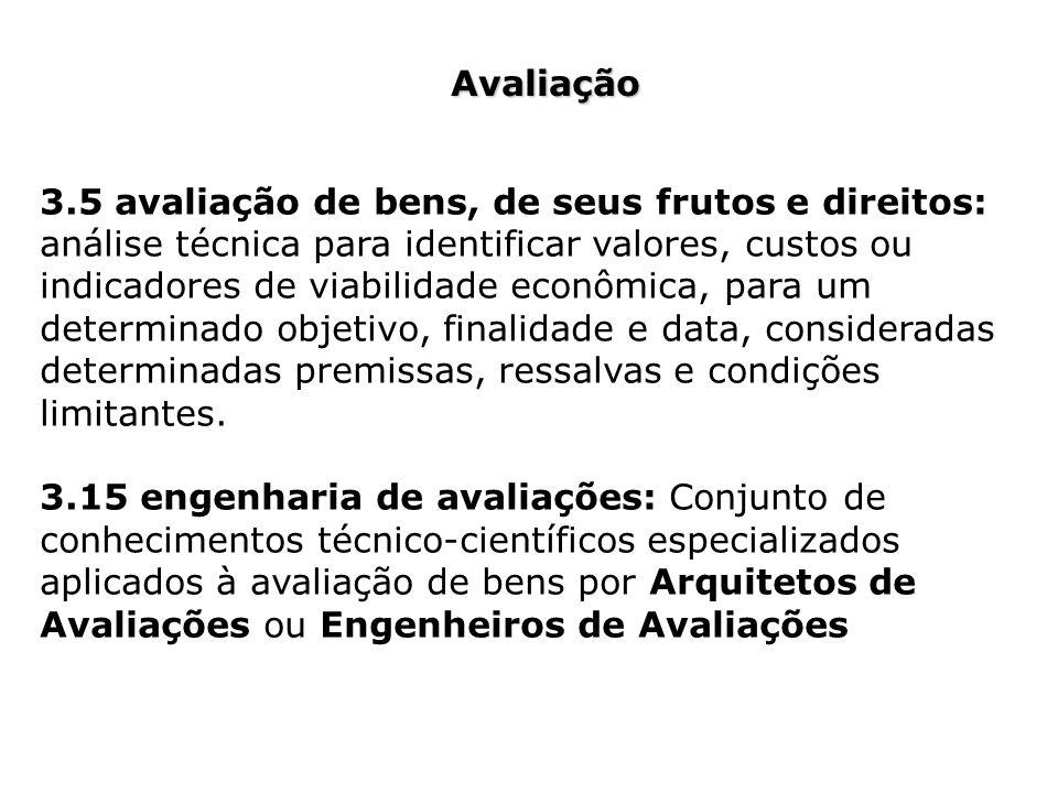 Avaliação 3.5 avaliação de bens, de seus frutos e direitos: análise técnica para identificar valores, custos ou indicadores de viabilidade econômica,