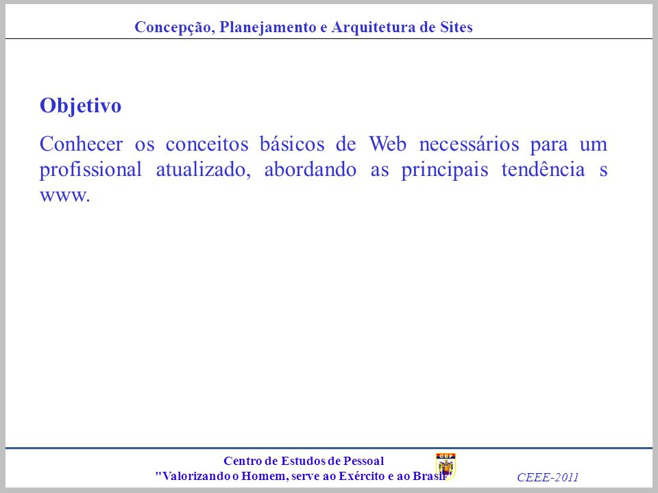 CEEE-2011 Centro de Estudos de Pessoal