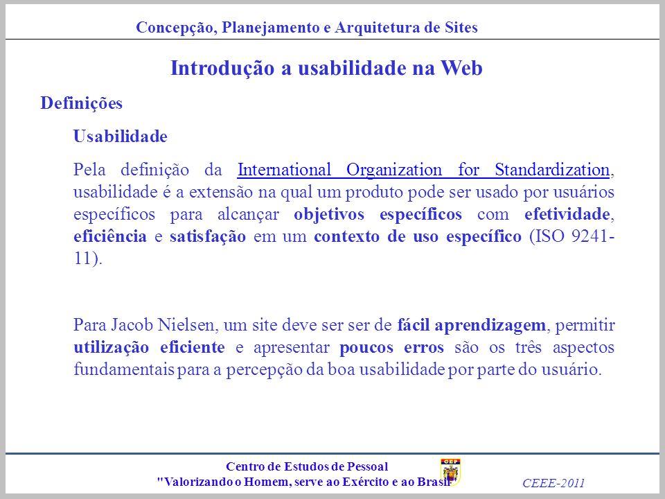 Concepção, Planejamento e Arquitetura de Sites CEEE-2011 Centro de Estudos de Pessoal
