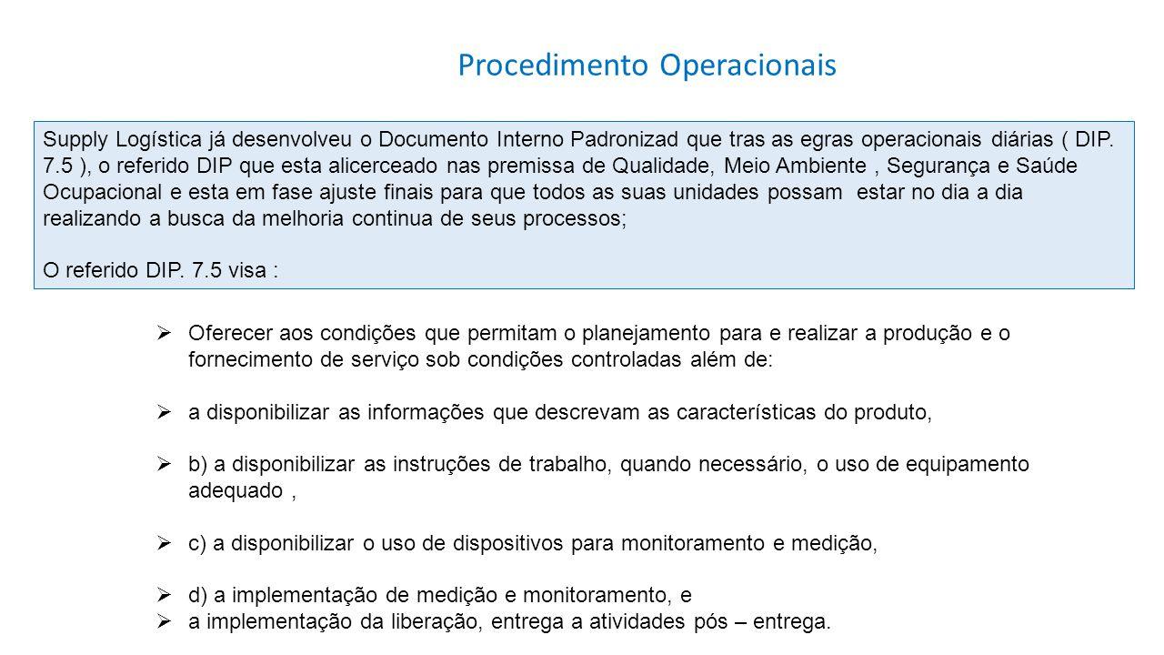 Oferecer aos condições que permitam o planejamento para e realizar a produção e o fornecimento de serviço sob condições controladas além de: a disponi