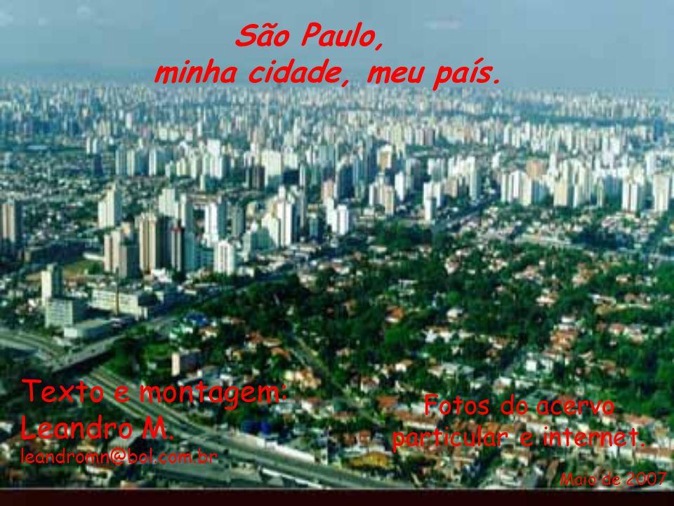 Texto e montagem: Leandro M. leandromn@bol.com.br Fotos do acervo particular e internet. São Paulo, minha cidade, meu país. Maio de 2007
