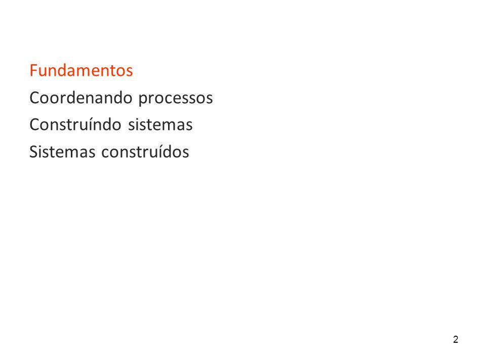 2 Fundamentos Coordenando processos Construíndo sistemas Sistemas construídos