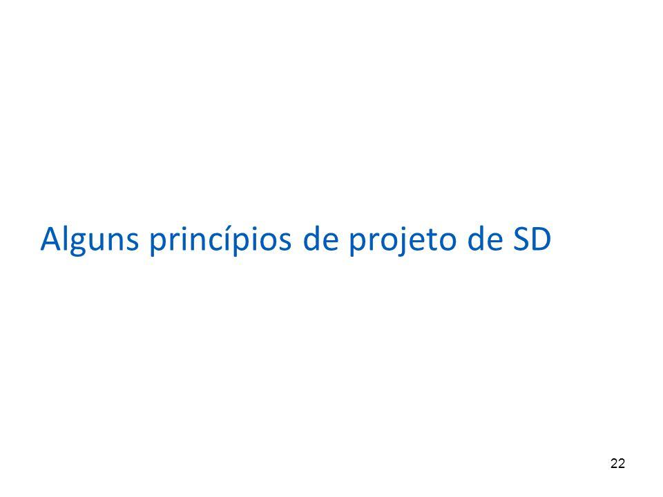 22 Alguns princípios de projeto de SD