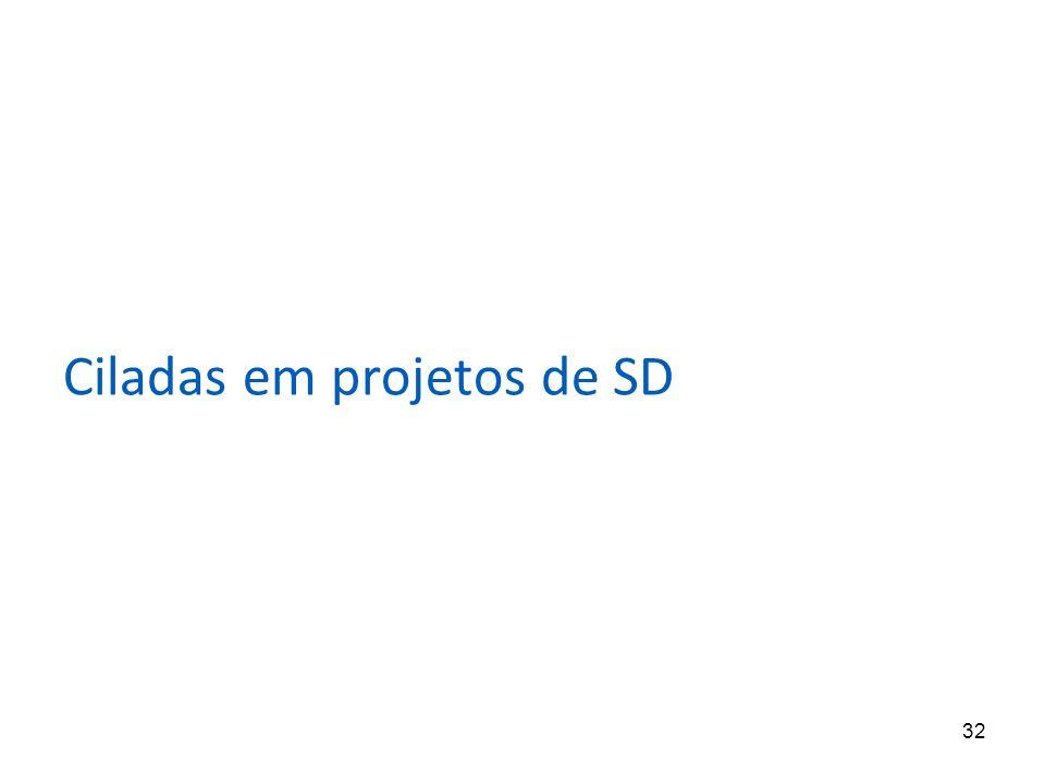 32 Ciladas em projetos de SD