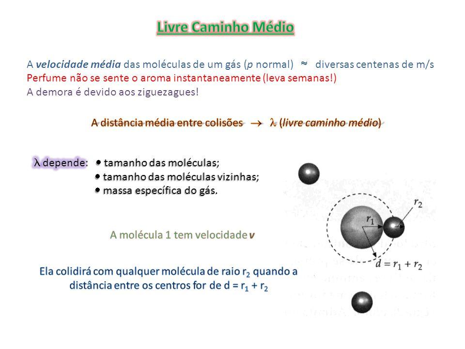 onde n V é o número de moléculas por unidade de volume Correção!