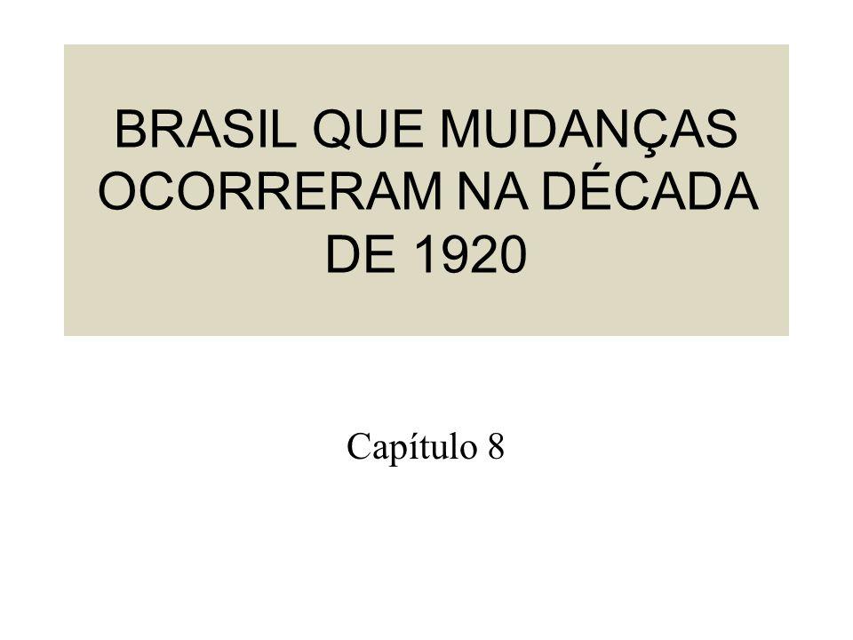 BRASIL QUE MUDANÇAS OCORRERAM NA DÉCADA DE 1920 Capítulo 8