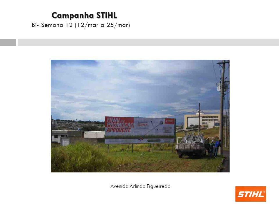 Avenida Arlindo Figueiredo Campanha STIHL Campanha STIHL Bi- Semana 12 (12/mar a 25/mar)