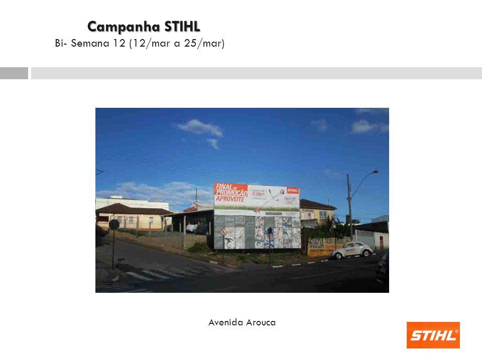 Avenida Arouca Campanha STIHL Campanha STIHL Bi- Semana 12 (12/mar a 25/mar)