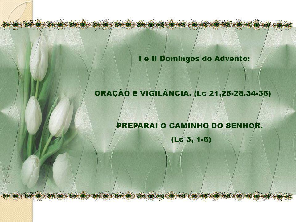 ORAÇÃO E VIGILÂNCIA. (Lc 21,25-28.34-36) PREPARAI O CAMINHO DO SENHOR. (Lc 3, 1-6) I e II Domingos do Advento: