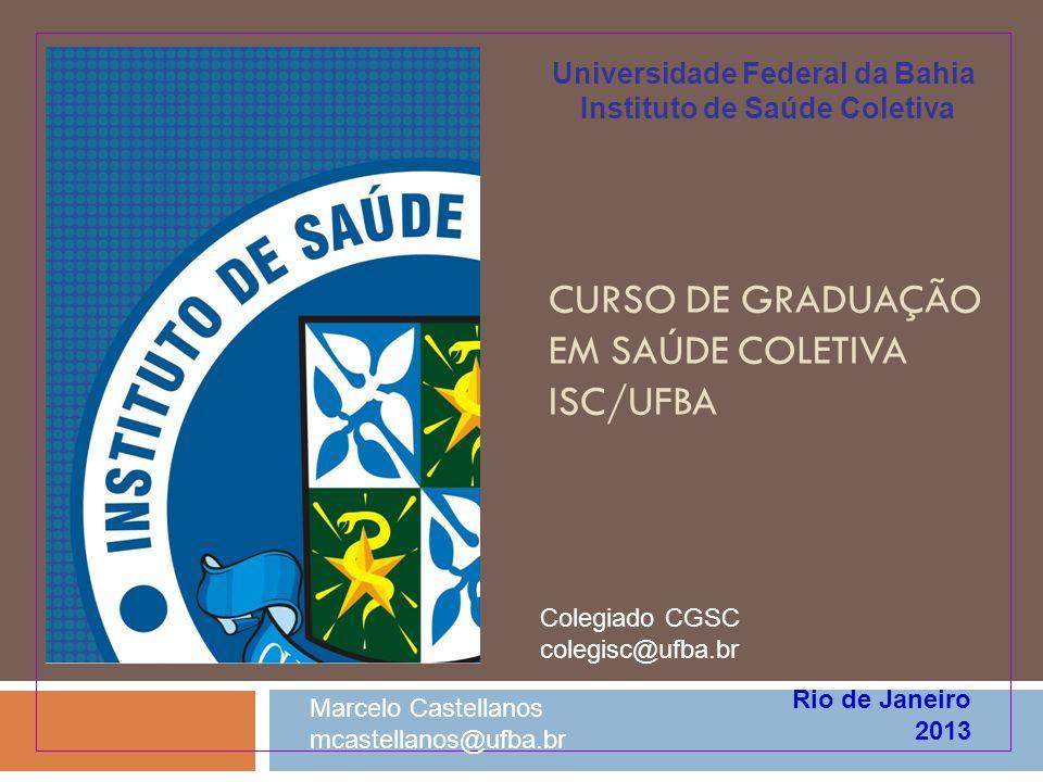 1974 - 80 Graduação em Saúde Coletiva no ISC-UFBA Antecedentes: Linha do Tempo Mestrado Profissional 03/2009 1993- 95 09/2002 2003 06/2008 2004 04/2005 2001 11-12/2002 Comissão formulação Proj.