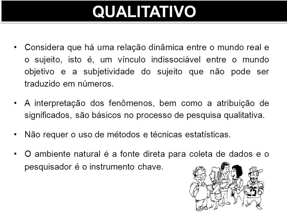 Considera que tudo pode ser quantificável, o que significa traduzir em números opiniões e informações para classificá-los.