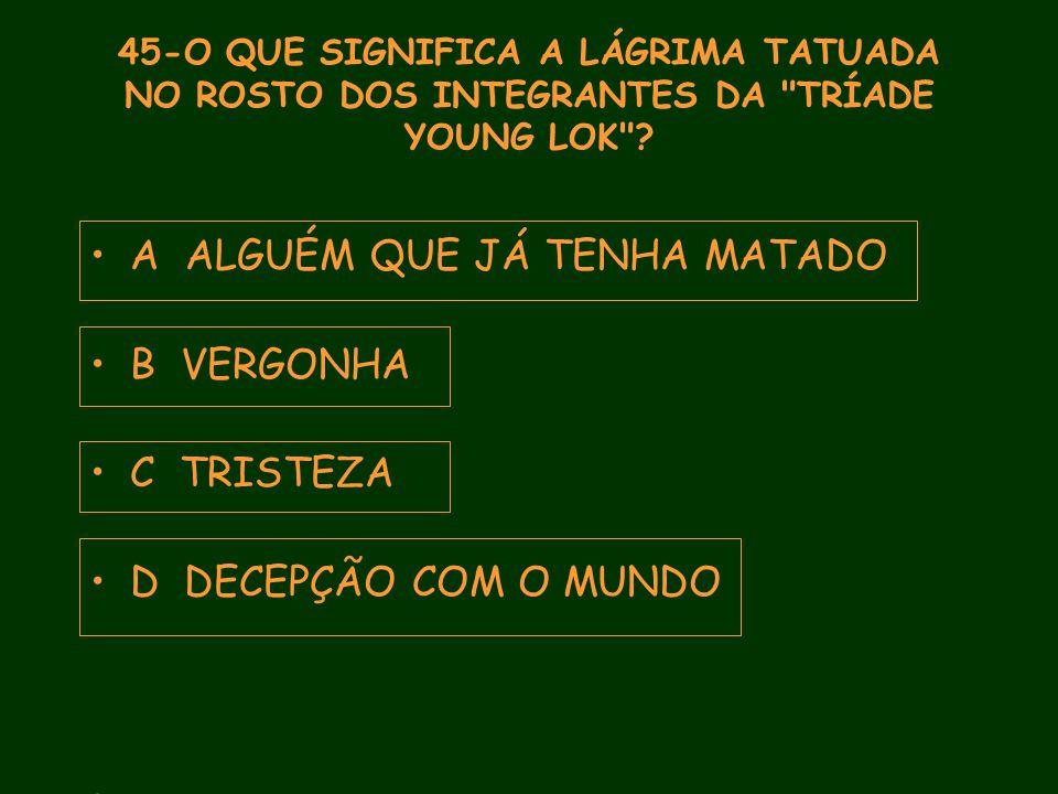 45-O QUE SIGNIFICA A LÁGRIMA TATUADA NO ROSTO DOS INTEGRANTES DA TRÍADE YOUNG LOK .