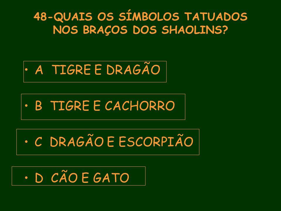48-QUAIS OS SÍMBOLOS TATUADOS NOS BRAÇOS DOS SHAOLINS.