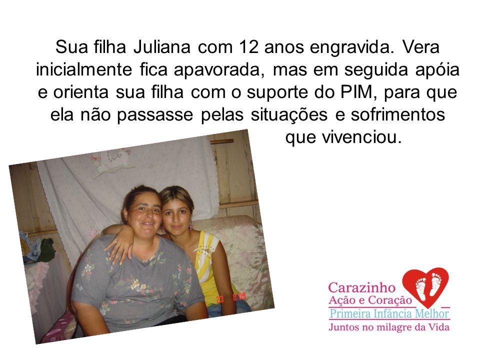 Sua filha Juliana com 12 anos engravida.