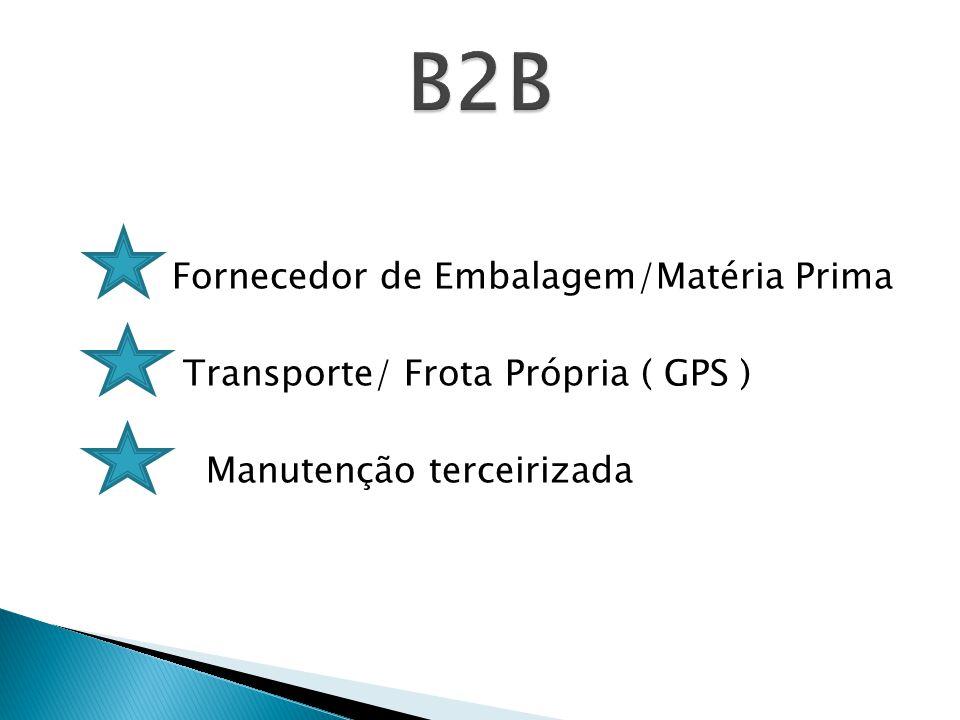 Fornecedor de Embalagem/Matéria Prima Transporte/ Frota Própria ( GPS ) Manutenção terceirizada