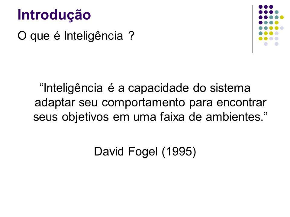 Introdução O que é Inteligência ? A habilidade de aprender ou entender ou tratar com situações novas. A habilidade de aplicar o conhecimento para mani