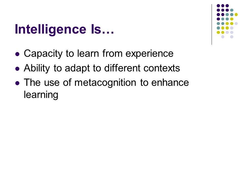 Introdução O que é Inteligência ? No livro do Andreas ele relata outras fontes que incluem aspectos como creatividade, habilidade, emoção e intuição n