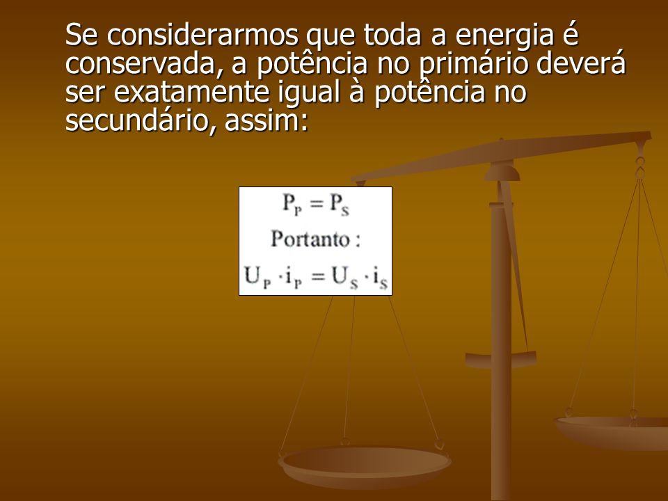 O seu funcionamento é baseado na criação de uma corrente induzida no secundário, a partir da variação de fluxo gerada pelo primário. A tensão de entra