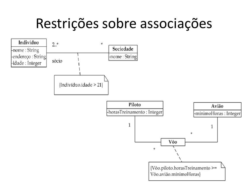 Restrições sobre associações