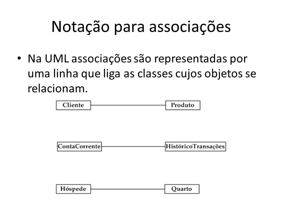 Notação para classes abstratas Na UML, uma classe abstrata é representada com o seu nome em itálico.