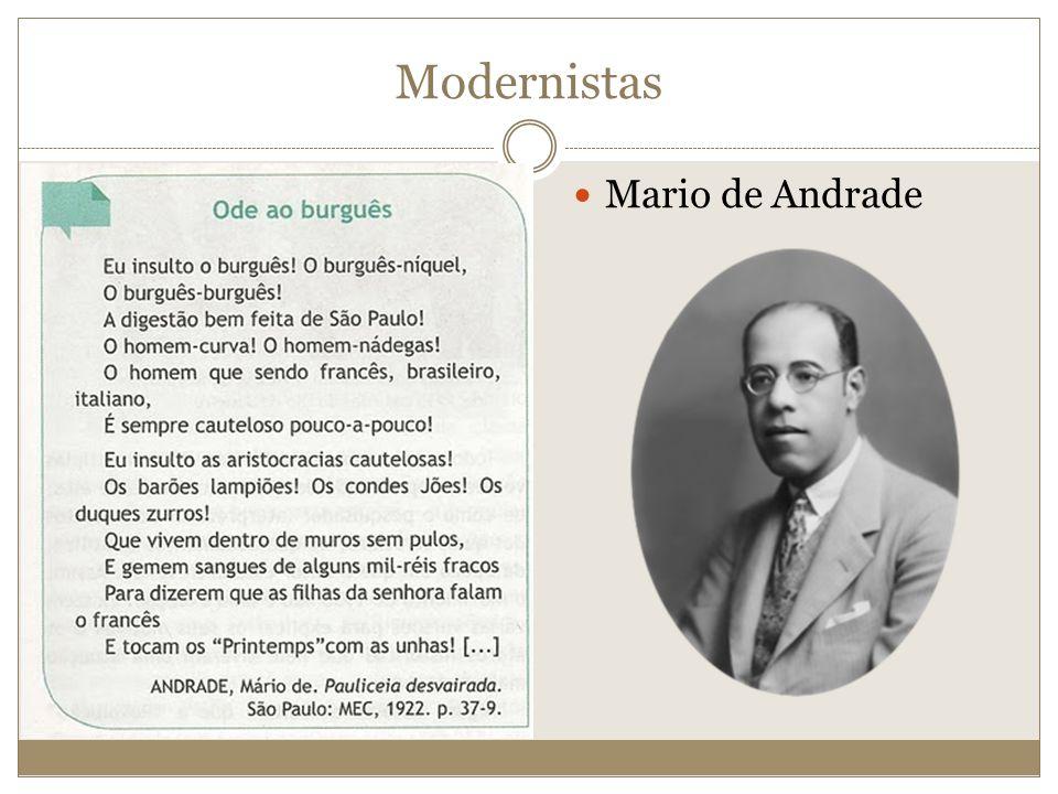 Modernistas Mario de Andrade