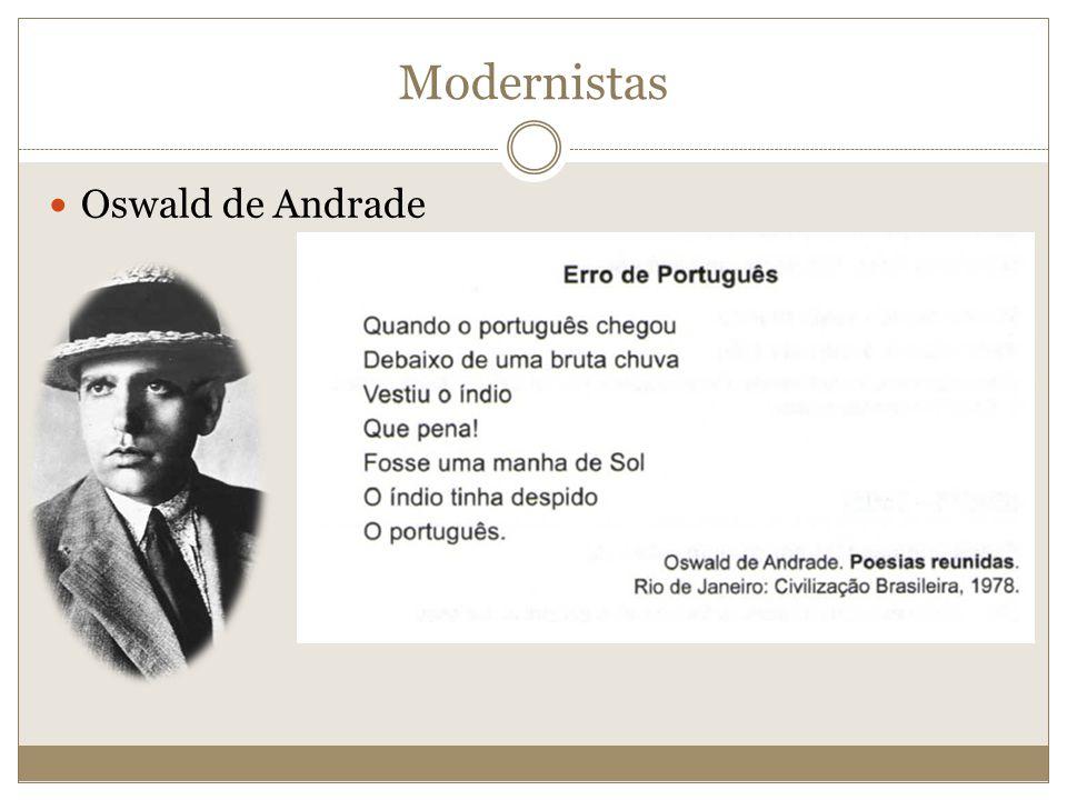 Oswald de Andrade Modernistas