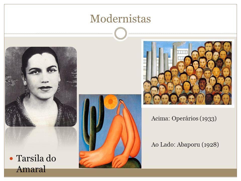 Tarsila do Amaral Acima: Operários (1933) Ao Lado: Abaporu (1928) Modernistas