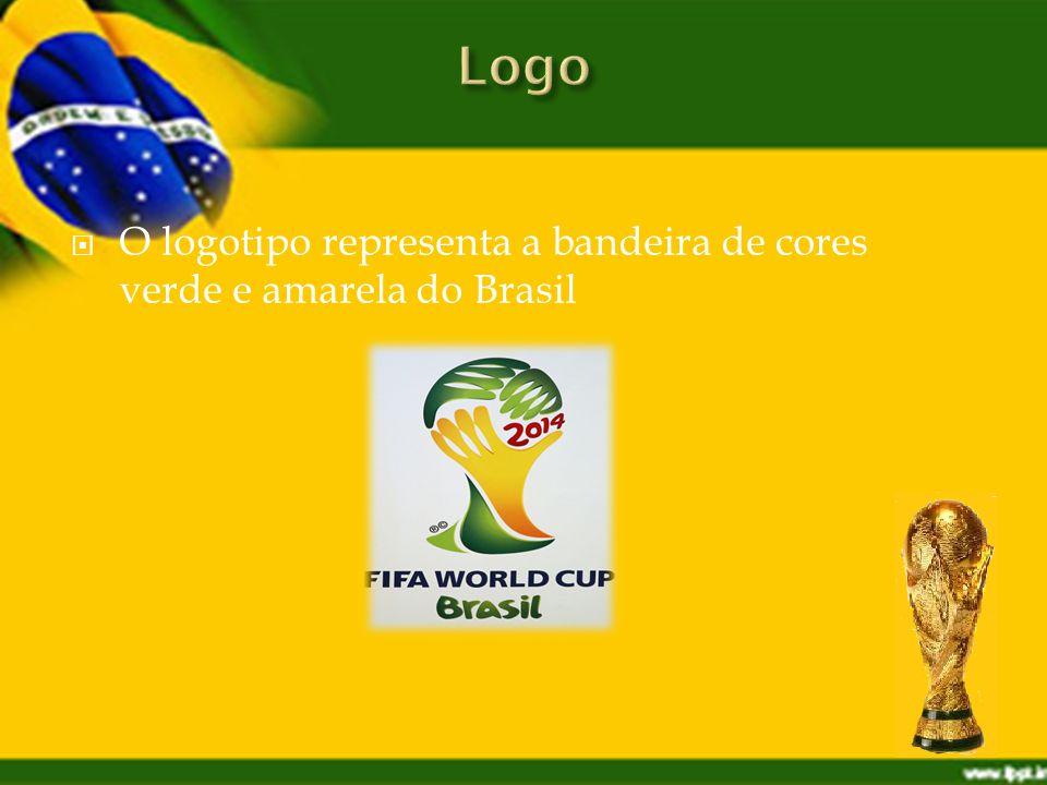 O logotipo representa a bandeira de cores verde e amarela do Brasil