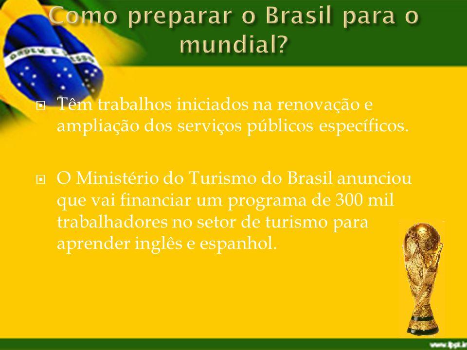 Têm trabalhos iniciados na renovação e ampliação dos serviços públicos específicos.