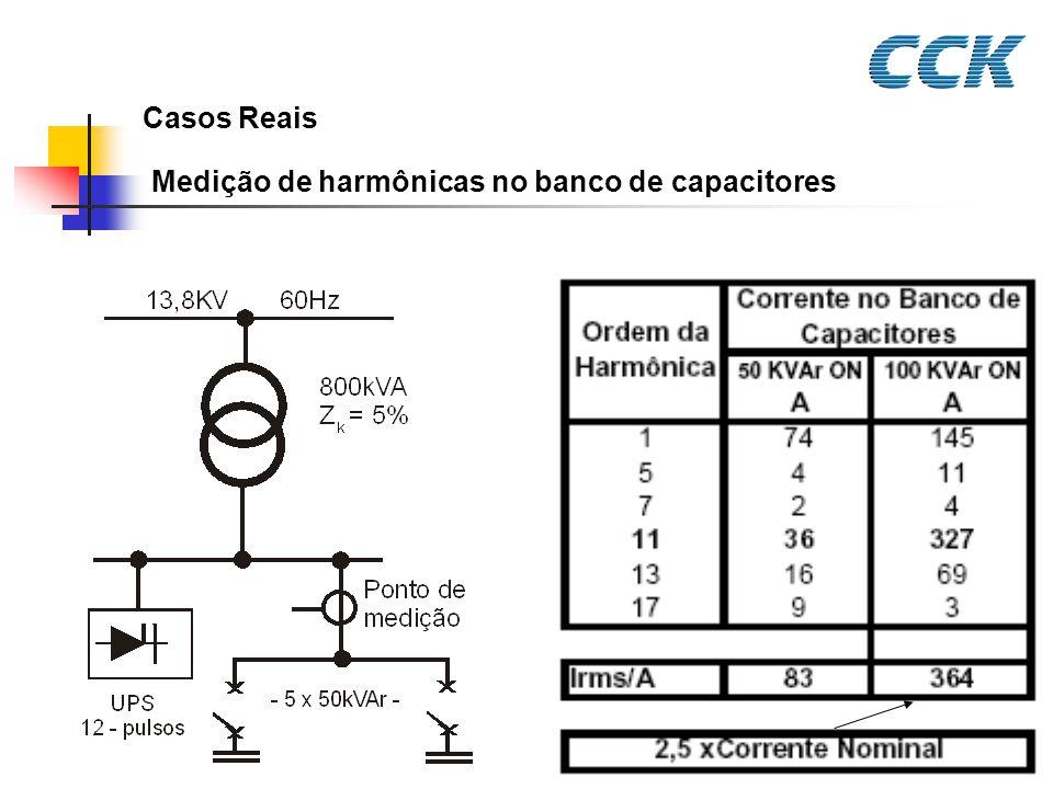 Medição de harmônicas no banco de capacitores Casos Reais