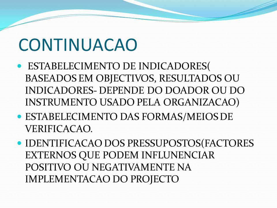 PRINCIPAIS ETAPAS DE PROJECTOS SOCIAIS IDENTIFICACAO DO PROBLEMA -CHAVE, ATRAVES DA TEMPESTADE DE IDEIAS, ATRAVES DO DRP E ARVORE DE PROBLEMAS.