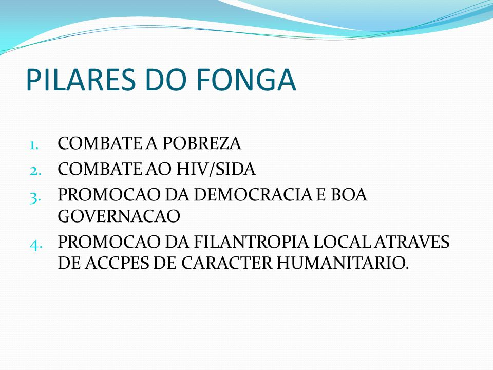 PRINCIPAL NETWORKING O FONGA É PONTO FOCAL DO G20, GMD, ROSA E MARP, COM ACTIVIDADES REALIZADAS CONJUNTAMENTE.