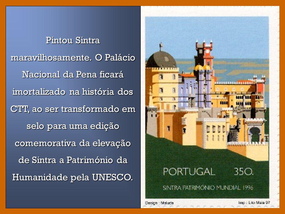 Quiosques de Lisboa Selos impressos a offset pela Imprensa Nacional Casa da Moeda a partir de originais em gouache, 1985.