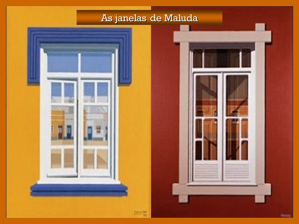 As janelas fechadas são um tema recorrente na pintura de Maluda. As janelas fechadas são um tema recorrente na pintura de Maluda. São essencialmente j