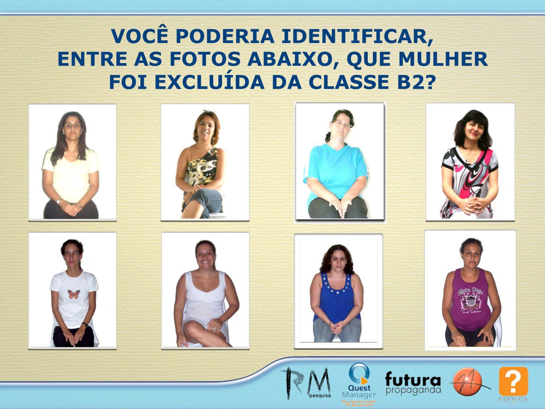 VOCÊ PODERIA IDENTIFICAR, ENTRE AS FOTOS ABAIXO, QUE MULHER FOI EXCLUÍDA DA CLASSE B2?