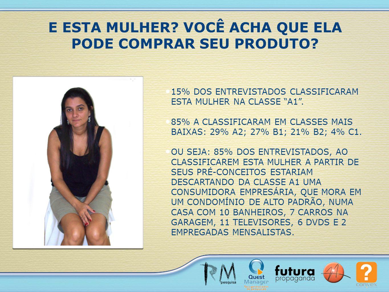 De acordo com o Critério Brasil 2008, todas fazem parte da mesma classe, a classe D.