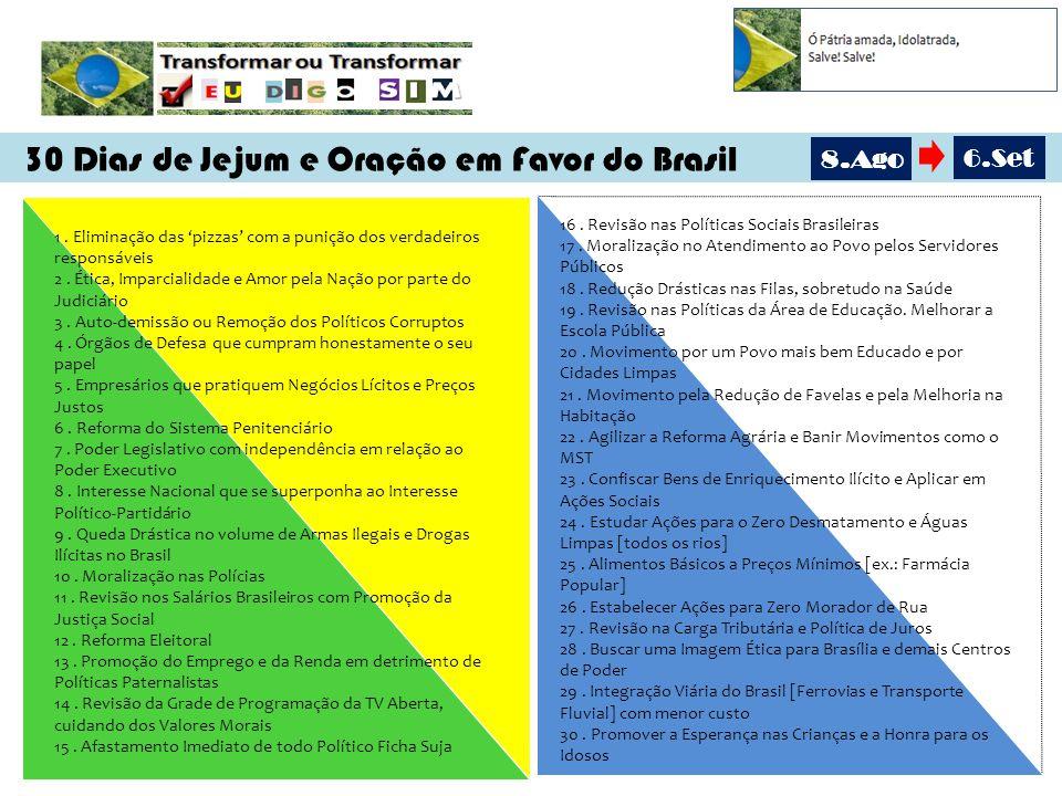30 Dias de Jejum e Oração em Favor do Brasil 1.